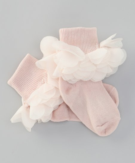 Pale Blush Pretty Posy Socks