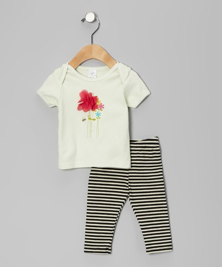 Green Garden Bee Tee & Pants