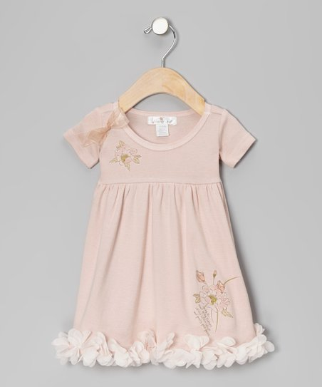 Pale Blush Pretty Posy Babydoll Dress - Infant