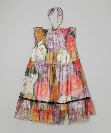 Purple Floral Convertible Dress