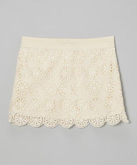 Ivory Lace Skirt