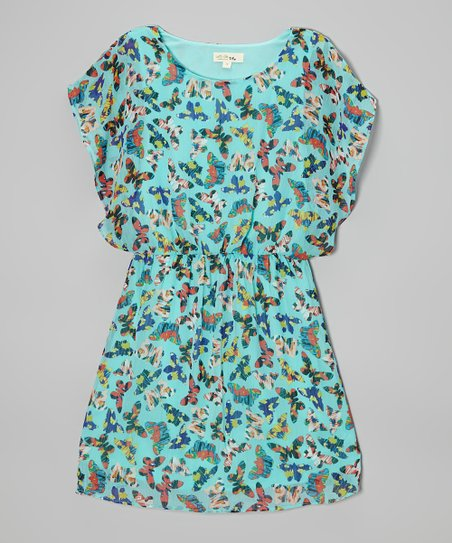 Teal Butterfly Dress