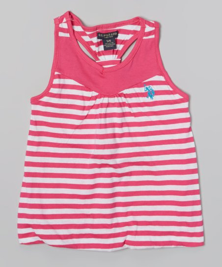 Pink Kite Stripe Y-Back Tank - Toddler & Girls