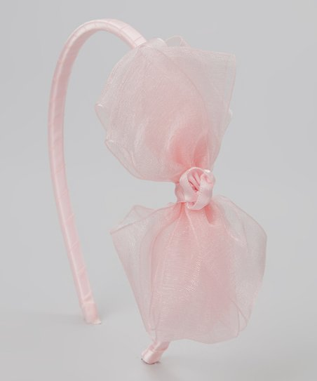Pink Ribbon Bow Headband