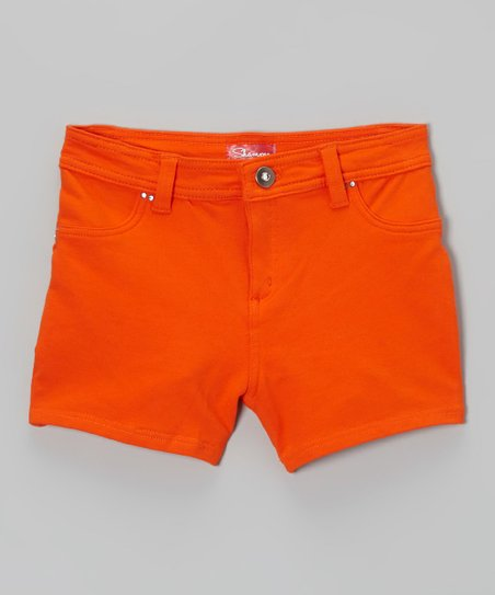 Orange Zinnia Shorts - Toddler & Girls