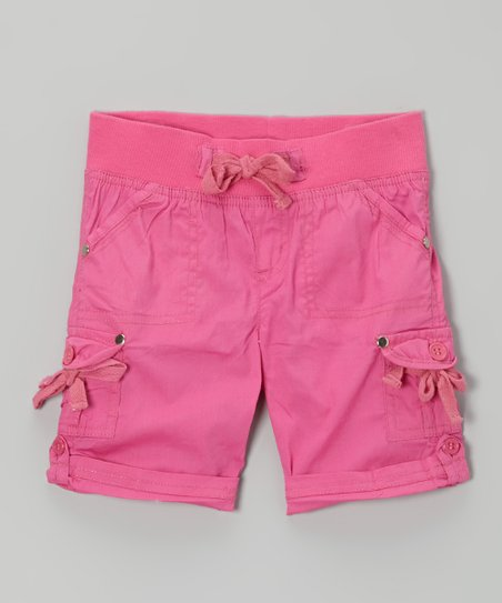 Frangipani Cargo Shorts - Toddler & Girls