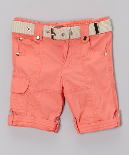 Frothy Pink Cargo Capri Pants - Toddler & Girls