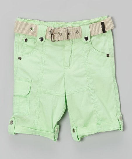 Crisp Green Cargo Capri Pants - Toddler & Girls