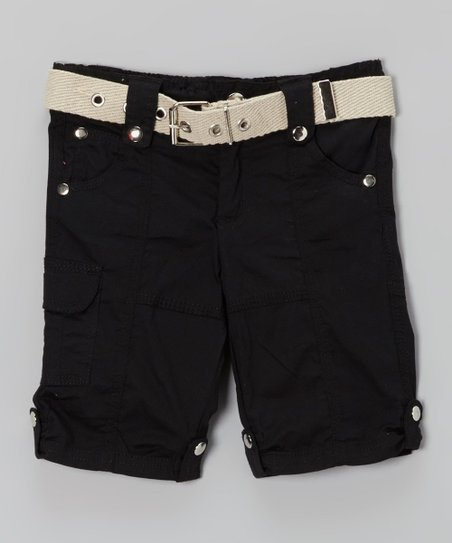 Black Thorn Cargo Capri Pants - Toddler & Girls