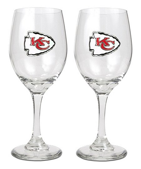 Kansas City Chiefs Wine Glass - Set of Two
