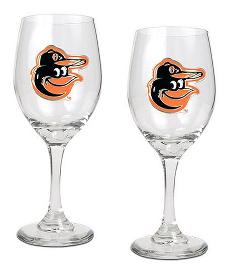 Baltimore Orioles Wine Glass – Set of Two