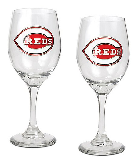 Cincinnati Reds Wine Glass - Set of Two