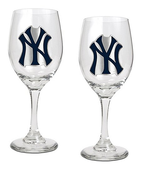 New York Yankees Wine Glass - Set of Two