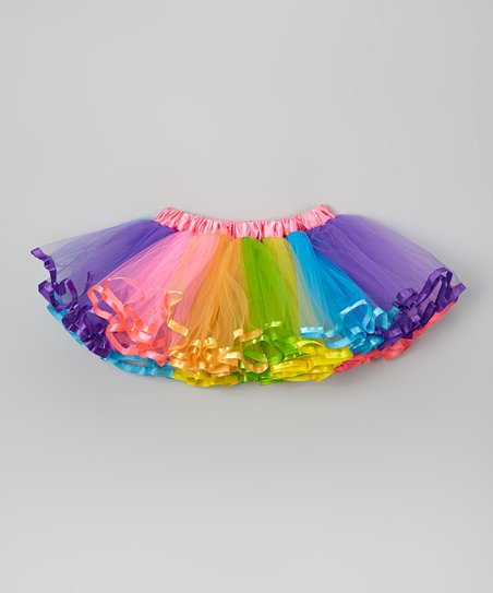 Hot Pink & Rainbow Tutu – Infant, Toddler & Girls