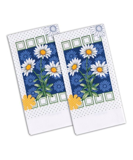Daisy Dazzle Flour Sack Towel - Set of Two