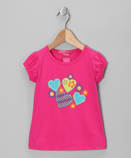Hot Pink Heart Tee - Infant, Toddler & Girls