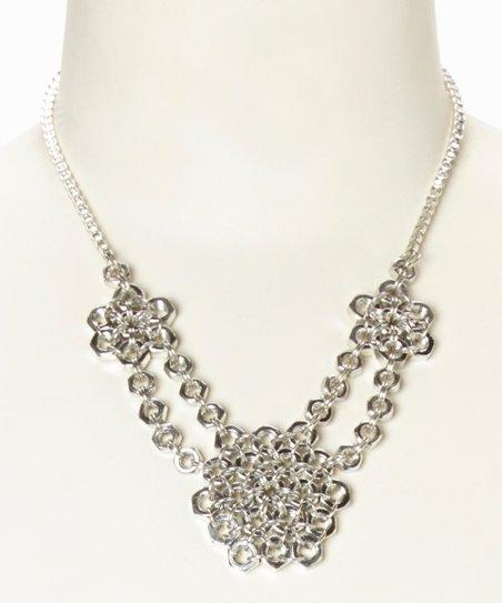 Silver Hardware Bib Necklace