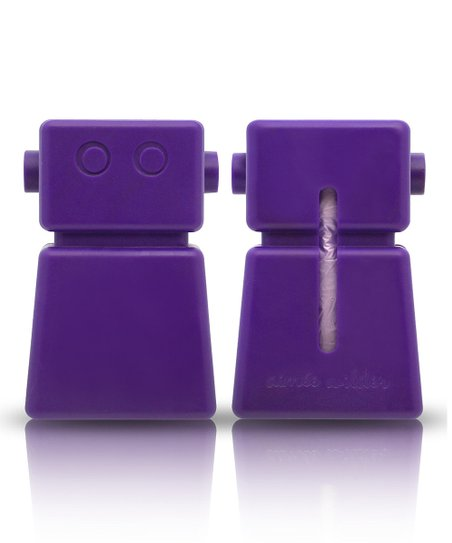 Purple Robot Waste Bag Dispenser