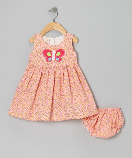 Pink Butterfly Dress & Diaper Cover - Infant