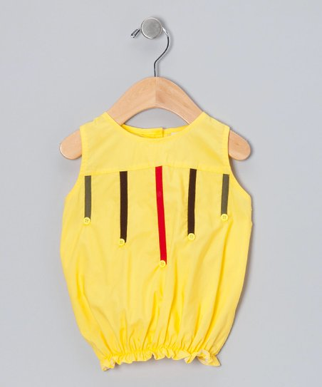 Yellow Stripe Bubble Top - Infant, Toddler & Girls
