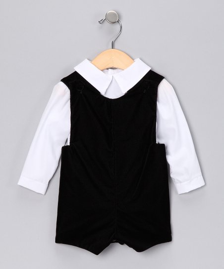Black Button-Up & Romper - Infant