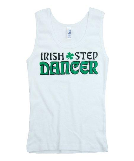 White 'Irish Step Dancer' Tank – Girls