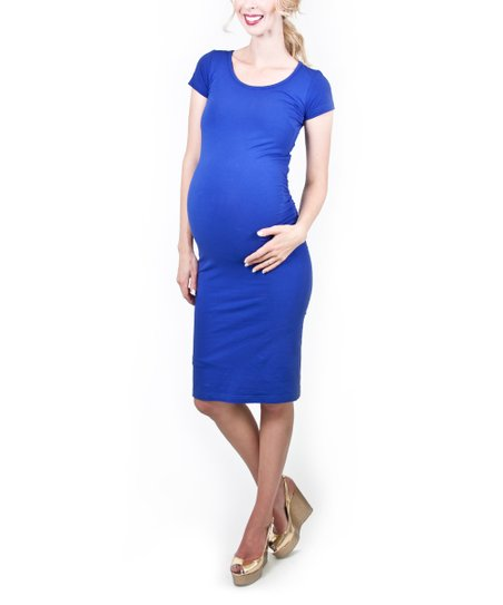 Blue Katie Maternity Dress