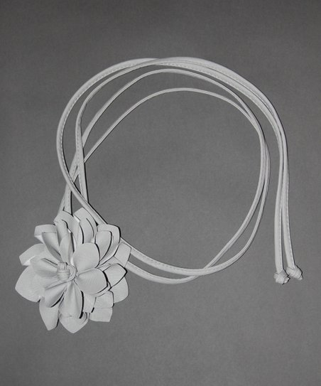 Gray Flower Bump Belt