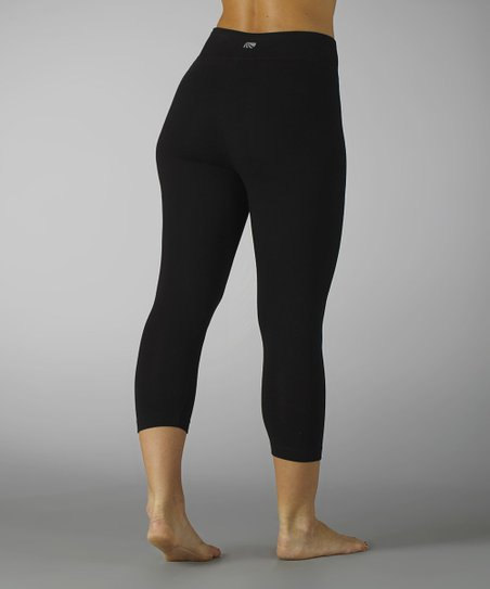 Black Tummy Control Capri Leggings