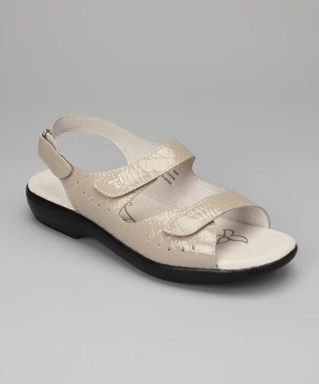 Metallic Ash Trinidad Leather Sandal