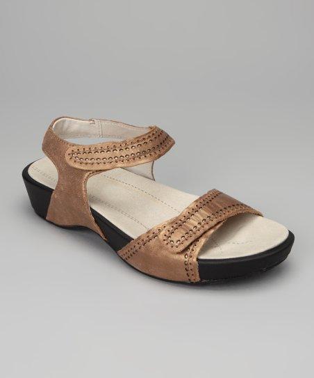 Bronze & Pewter Violet Leather Sandal