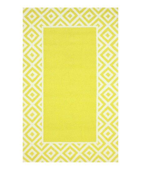 Yellow & White Alice Wool Rug