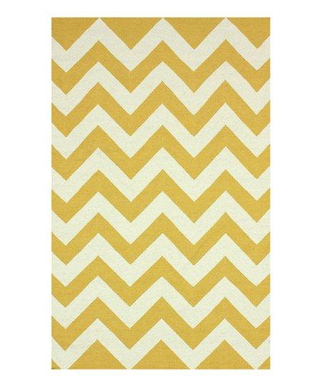 Gold & White Spencer Wool Rug