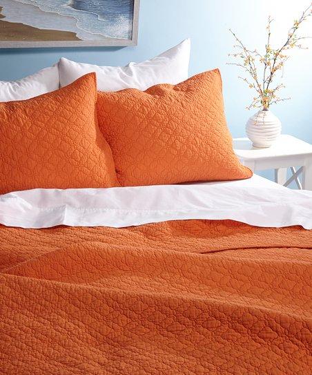 Orange Bordeaux Quilt Set