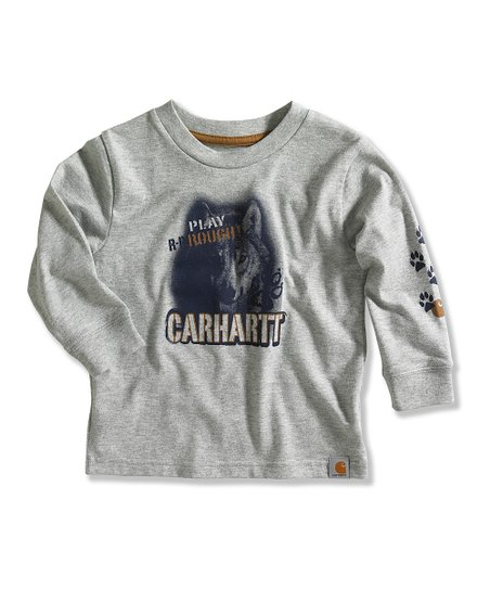 Gray 'Play Rough' Tee - Toddler