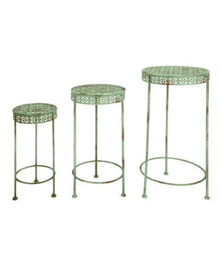 Green Industrial Heritage Plant Stand Set
