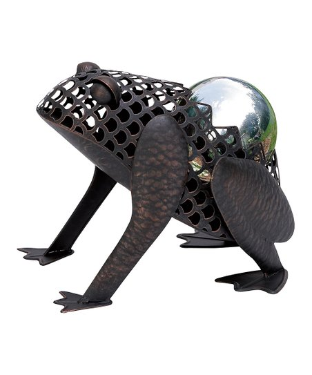 Black Frog Gazing Ball