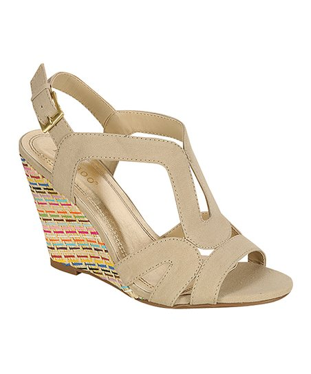 Natural Blanche Wedge Sandal