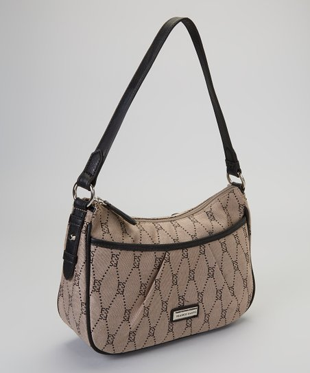 Gray & Black Sloan Demi Top-Zip Handbag