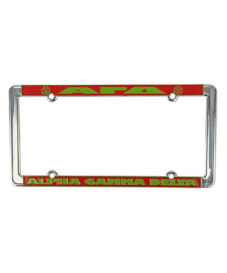 Alpha Gamma Delta License Plate Frame