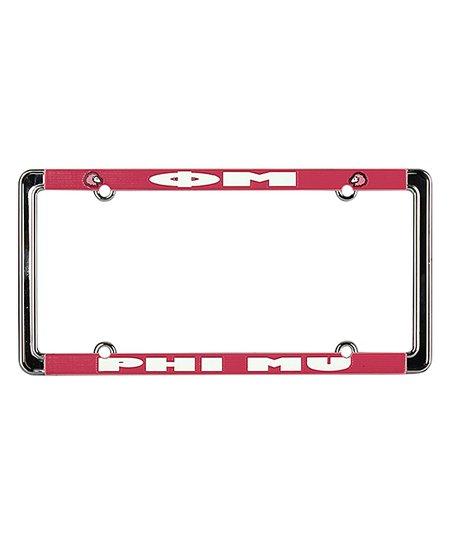 Phi Mu License Plate Frame
