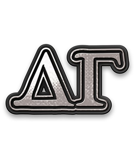 Delta Gamma Chrome Car Emblem