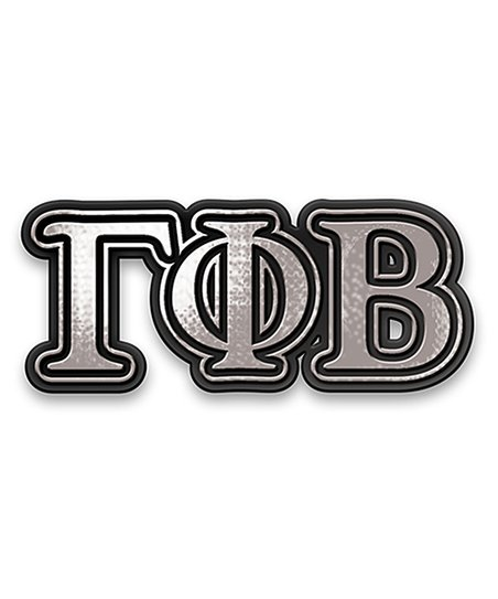 Gamma Phi Beta Chrome Car Emblem