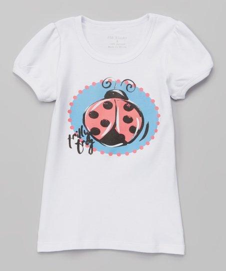 White Ladybug Tee – Infant, Toddler & Girls