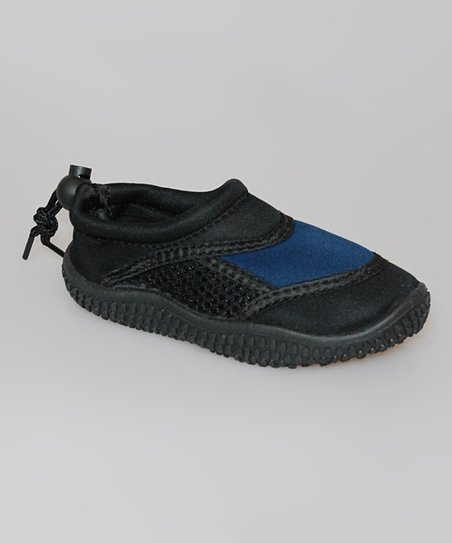 Black & Navy Water Shoe - Kids