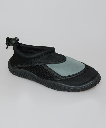 Black & Gray Water Shoe - Kids