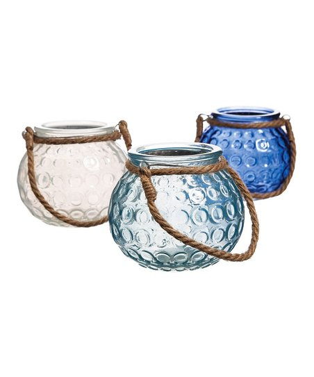 Rope Handle Candle Holder Set