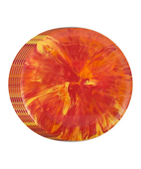 Aurora Tie-Dye Dinner Plate - Set of Six