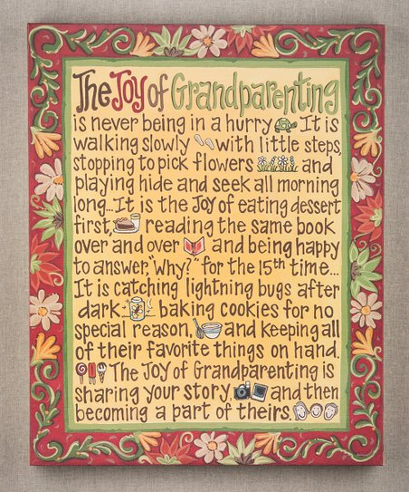 &#039;Joy of Grandparenting&#039; Canvas Art