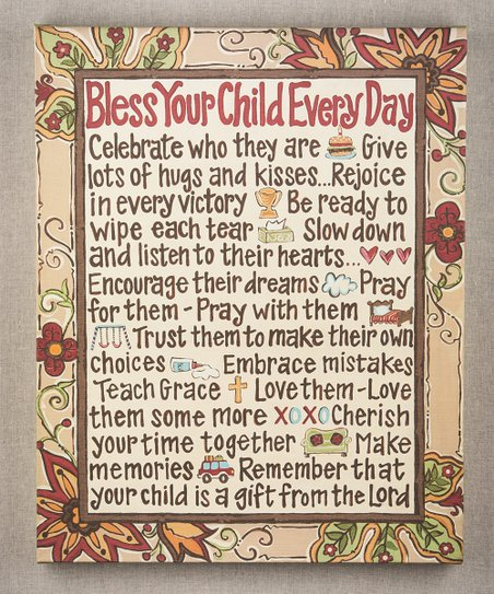 &#039;Bless Your Child&#039; Canvas